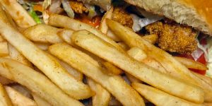 French Quarter Po Boy and Fries 2