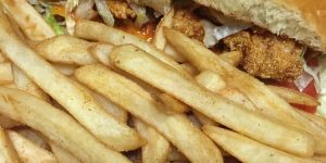 French Quarter Sandwich and Fries