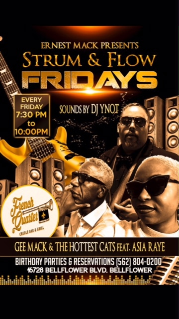 Strum and Flow Fridays @ French Quarter Creole Bar and Grille