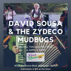 David Sousa and the Zydeco Mudbugs @ French Quarter Bar & Grill