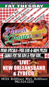 Fat Tuesday @ French Quarter Bar & Grill