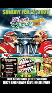 Super Bowl Party @ French Quarter Bar & Grill