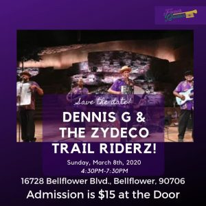 Sunday March 8 Dennis G & The Zydeco Trail Riderz! @ French Quarter Bar & Grill