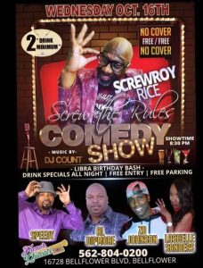 Screw The Rules Comedy Show @ French Quarter Bar & Grill