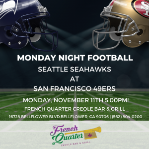 Monday Night Football @ French Quarter Bar & Grill